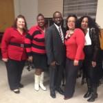 Executive Board (ltr): Tina Silvestri, Carolyn Vincent, Robert D. Tompkins, Yolanda Moore, and Ramona Douglas